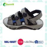 Grey PU Upper and TPR Sole, Men′s Sporty Sandals