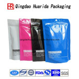Clear Logo Printed Packaging Clothing Stand up Plastic Bag
