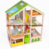 2014 Top New Kids Wooden Doll House for Age 3+