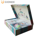 Flower Printed Gift Box/ Paper Board Rigid Packaging Box