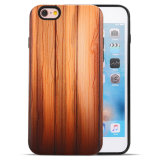 2017 Custom Wood Pattern PU PC Smart Mobile Phone Covers Case for iPhone 7