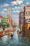Handmade Venice Canal Oil Painting