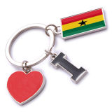New Custom Metal Souvenir Ghana Keyring