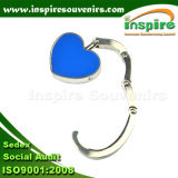 Portable Blue Foldable Heart Hook for Girls