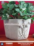 Natural Stone Gardon Flower Pot (SRS-FP-009)