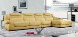 Yellow High Headrest Leather Sofa (2160)