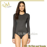 Seamless Long Sleeves Sport One Piece Swimsuit