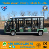 Zhongyi 11 Passengers Enclosed off Road Battery Powered Classic Shuttle Electric Vehicle with High Quality