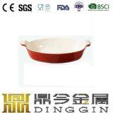 Cast Iron White Enamel Dish Pan