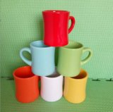Wholesale 12 Oz Diffrent Colorful Glazed Ceramic Coffee Mug