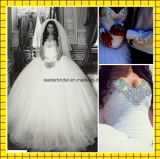 Crystals Wedding Ball Gown Sweetheart Puffy Bridal Dresses Z1039