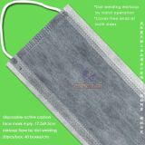 Disposable 4ply Activated Carbon Face Mask with Elastic Earloops or Ties