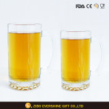 1L Clear Logo Set Glassware Beer Glass with Handle