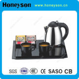 0.8L Stainless Steel Kettle Welcome Tray Set for Hotel Appliance