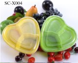 Disposable Fruit Cut Box Wrapped Heart-Shaped Living Room Candy Plate