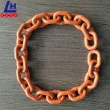 "5/16"" G100 Orange Plastic Powder Coated Alloy Lifting Chain"