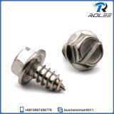18-8/316 Stainless Steel Hex Washer Head Slotted Sheet Metal Screws