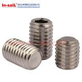 DIN913 High Strength Hexagon Socket Set Screws with Flat Point