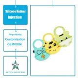 Customized Silicone Rubber Products Adjustable Collar Infant Baby Pinafore Moulding