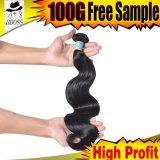 Real Human Hair Extension, Grade 10A Brazilian Hair Extension