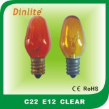C22 colorful candle incandescent bulb for decoration