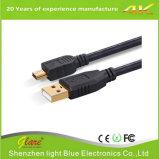 Gold Plug USB Am to Mini USB Cable