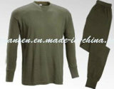 Winter Underwear Thermal in Oliva Green with Simple Classic Design