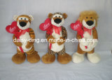 Plush Standing Valentine Lion with Heart