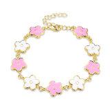 2017 Fashion Elegant Gold Bracelet Flower Charm Gold Jewelry