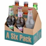 6 Pack Cardboard Beer Bottle Carrier, Simple Corrugated Counters