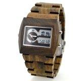 Fashion Analog Wooden Digital Watch