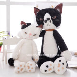 Plush Kids Toys White and Black Cat