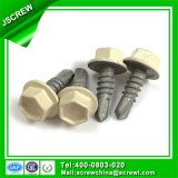 Yellow Steel Painted Head Hardware Self Drilling Screw for Building