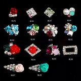 3D Glitter Charms Rhinestones Metal Decals for Nail Art Beauty Decoration
