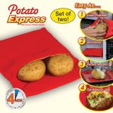 Set of 2 Potato Express Microwave Potato Cooker