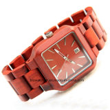 Custom Square Wooden Wrist Watches Mens Ladies for Promotion Gift