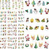 Christmas Santa Snowman Tree Water Nail Art Stickers Nail Sticker