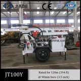 Jt100y Small Portable Trailer Mounted Water Wells Drilling Rig