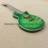 Hollow Body Lp Style Electric Guitar Quilt Natural Wood