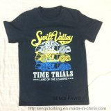 Dark blue Boy Water Print T-Shirt Sq-6339