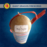 3 Inch Display Shell Fireworks Red Peony
