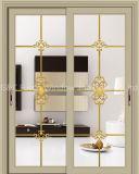 Customized Powder Coated Aluminum Sliding Door with Double Glazing