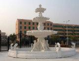White Marble Pool Fountain, Public Fountain, Garden Fountain (FNT050)