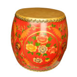 Antique Reproduction Wooden Drum Stool Lws077-2