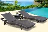 Outdoor Sun Lounge Brown Wicker Lounges for Pool Garden Beach Tg-Jw3031