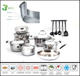 3 Ply Cookware Set Composite Body