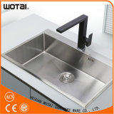 Black Square Kitchen Sink Water Tap Water Mixer