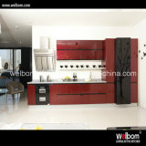 2016 Welbom Red Modern Lacquer Kitchen Cabinets