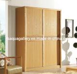 Modern Wood Wardrobe with Sliding Door (AGW-011)