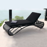 Beach Swimming Pool Outdoor Lounger Chair Wicker Rattan Sun Lounger Rattan Sun Bed T528